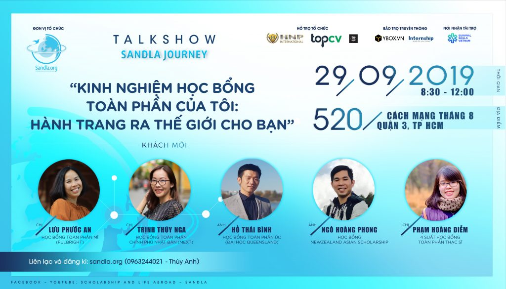 hội thảo du học talkshow Sandla Journey