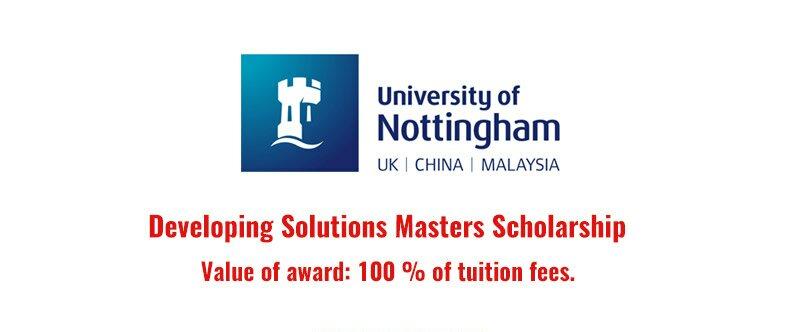 hoc-bong-developing-solutions-masters-scholarship-100-tai-dai-hoc-nottingham